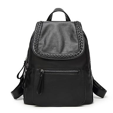 للنساء أكياس كل الفصول PU حقيبة ظهر إلى فضفاض أسود
