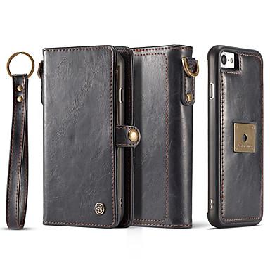 Case For iPhone 7 Plus iPhone 7 iPhone 6s Plus iPhone 6 Plus iPhone 6s iPhone 6 Apple Card Holder Wallet Magnetic Full Body Cases Solid