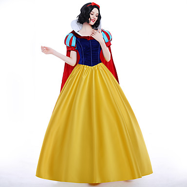 Princess / Queen / Snow Cosplay Costume / Party Costume / Masquerade Movie Cosplay RedYellow Dress / Petticoat / Cloak Christmas / Halloween / Carnival Ssatin