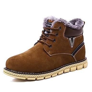 f06f97f72 للرجال أحذية فرو ظبي شتاء نعال خفيفة / بوتي (جزمة الكاحل) / جزم الثلج