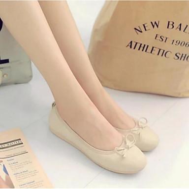 Damen Schuhe PU Sommer Komfort Flache Schuhe Für Normal Beige Grün Blau