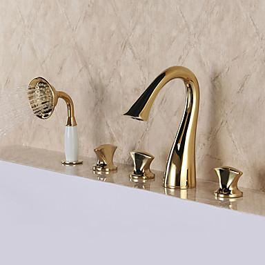 Badewannenarmaturen - Luxus Luxuriös Klassisch Ti-PVD 3-Loch-Armatur Messingventil