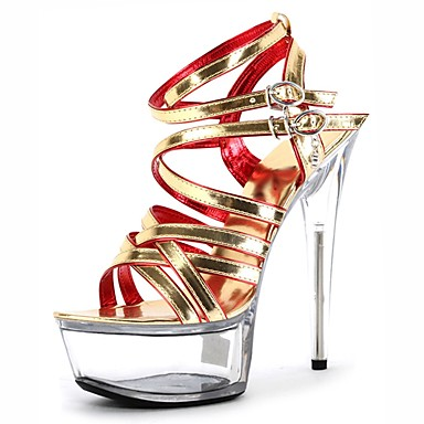 Női Cipő PU Nyár Formai cipő Szandálok Tűsarok Köröm Kristály   Csat mert  Ruha   Party 83fa2498a8