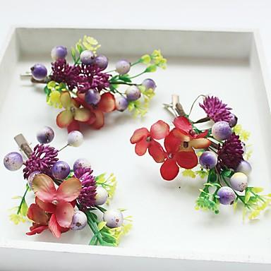 Chiffon Stoff Kunststoff Seide Netz Blumen Haarspange Kopfstück eleganten Stil