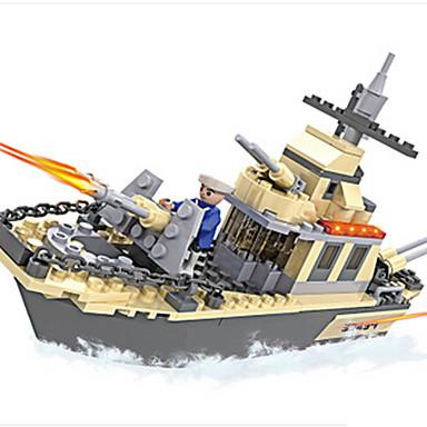 Spielzeug-Autos Bausteine Spielzeuge Panzer Kriegsschiff Streitwagen ABS Jungen Stücke