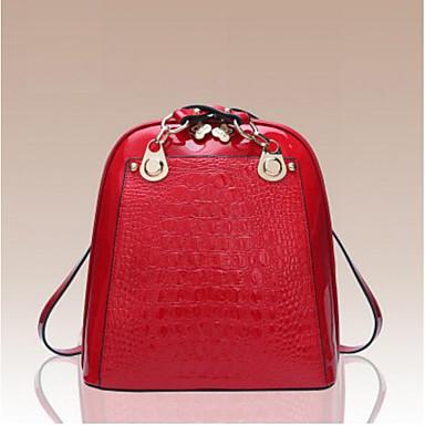 Damen Taschen Kuhfell Rucksack für Normal Ganzjährig Rote