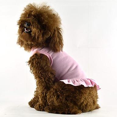 Hund Kleider Hundekleidung Solide Rot Blau Rosa Baumwolle Kostüm Für Haustiere Sommer Herrn Damen Lässig / Alltäglich