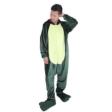 Kigurumi pizsama papuccsal Dinoszaurus Sárkány Onesie pizsama Jelmez Φανελένιο Ύφασμα Zöld Rózsaszín Cosplay mert Allati Hálóruházat