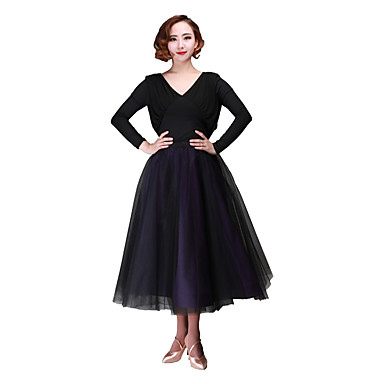 Ballroom Dance Bottoms Women's Performance Chiffon / Tulle Bow(s) Dropped Skirts / Waist Accessory