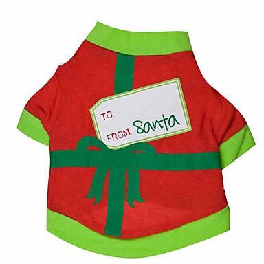 Dog Sweatshirt Dog Clothes Christmas Black / Green Cotton Costume For Pets Summer Men's / Women's Christmas