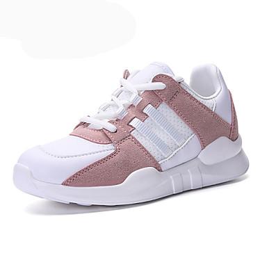 Damen Schuhe Tüll Sommer Herbst Komfort Sportschuhe Walking Keilabsatz Runde Zehe Schnürsenkel für Normal Draussen Büro & Karriere