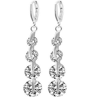 Damen überdimensional Strass Tropfen-Ohrringe - Sexy / überdimensional / Modisch Gold / Silber Linienform Ohrringe Für Hochzeit / Party /