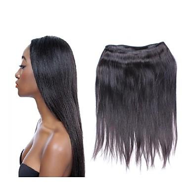 Großhandels10a brasilianische gerade reine Haarbündel 10pcs 1kg lot 100% silk Menschenhaar Material natürliche schwarze Farbe kein