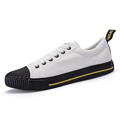 Férfi cipő Szövet Tavasz / Ősz Kényelmes Tornacipők Fehér / Fekete