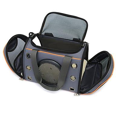 Katze Hund Transportbehälter &Rucksäcke Dog-Pack Umhängetasche Haustiere Träger Regolabile / Einziehbar Tragbar Klappbar Solide Grau