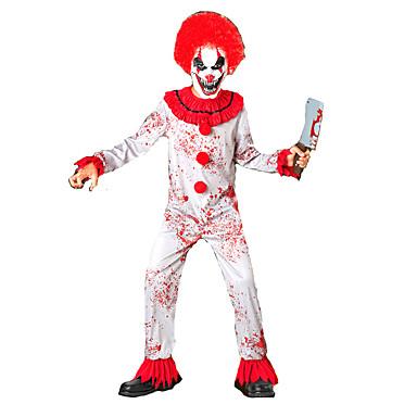 Burleske Clown Zirkus Cosplay Kostüme Maskerade Kinder Halloween Karneval Fest / Feiertage Halloween Kostüme Schwarz und Weiß Sonstiges