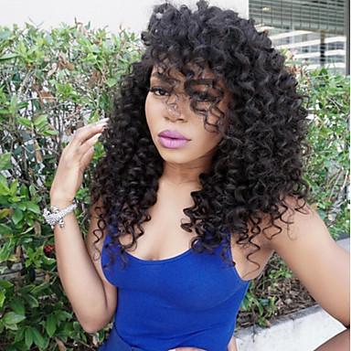 Echthaar Spitzenfront Perücke Kinky Curly 130% Dichte 100 % von Hand geknüpft Afro-amerikanische Perücke Natürlicher Haaransatz Kurz