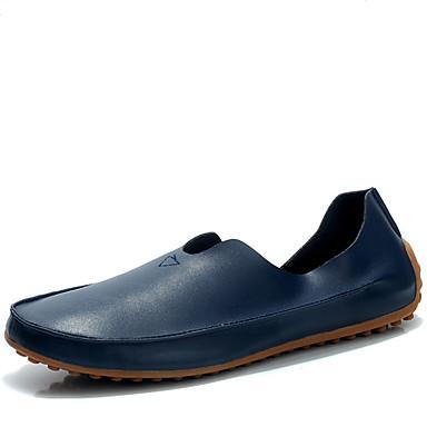 Férfi cipő Bőrutánzat Tavasz Nyár Könnyű talpak Mokaszin Papucsok & Balerinacipők mert Hétköznapi Hivatal és karrier Bézs Sötétkék Piros