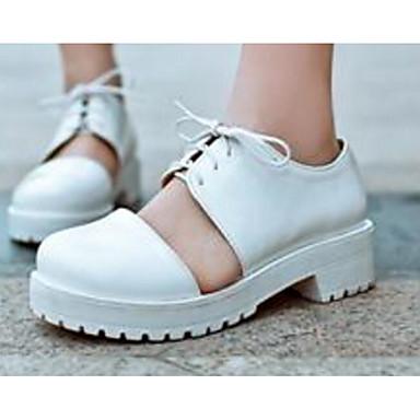 Damen Schuhe PU Sommer Komfort Sandalen für Normal Schwarz Mandelfarben Orange & Schwarz