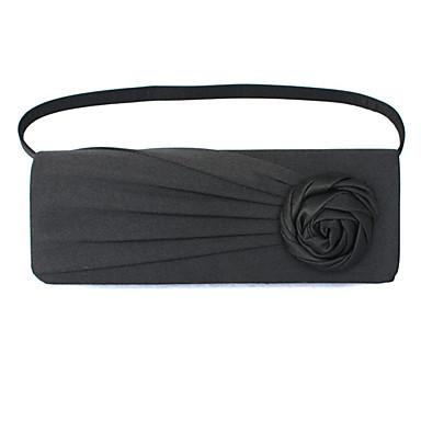 للمرأة أكياس حرير حقيبة سلسلة معدنية / ورد / كشاكش إلى زفاف / مناسبة / حفلة / رسمي أسود / أرجواني