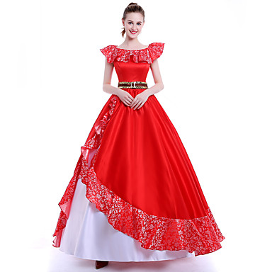 5f0fdf13b77c Prinsesse   Eventyr   Queen Cosplay Kostumer   Festkostume   Maskerade Film  Cosplay Hvid   Rød