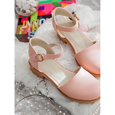 Damen Schuhe PU Frühling Herbst Komfort Sandalen Für Normal Schwarz Beige Rosa