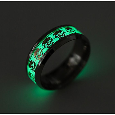 Men's Band Ring - Titanium Steel Skull Fashion 6 / 7 / 8 Gold / Silver For Daily