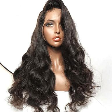 Damen Echthaar Perücken mit Spitze Haare mit intakter Kutikula (Remy Hair) Vollspitze Ohne Klebstoff und volle Spitze 130% 150% 180%