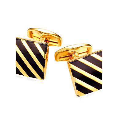 Geometric Silver / Golden Cufflinks Vintage / Fashion Men's / Women's Costume Jewelry For