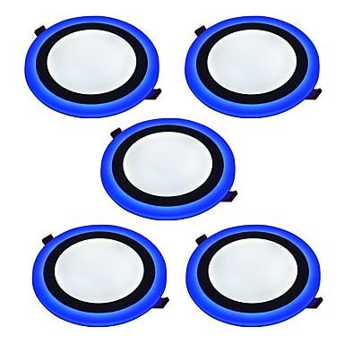 JIAWEN 9W 45 LEDs Dekorativ Instrumententafel-Leuchten Kühles Weiß Blau AC85-265V