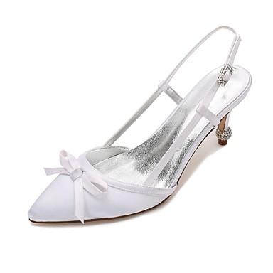 Chaussures Basique Satin Eté Deux Chaussures Escarpin mariage amp; Talon Confort D'Orsay Femme Printemps 06074387 Talon Pièces de Bas Cône qwCPFx50v