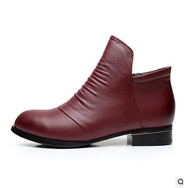 Damen Schuhe PU Herbst Komfort Stiefel Für Normal Rot