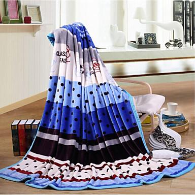 Superweich, Bedruckt Streifen Polyester Decken