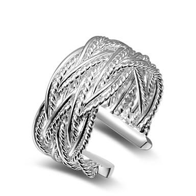 Damen Übergang Stulpring - Kupfer, versilbert Verstellbar Silber Für Hochzeit / Party / Büro / Geschäftlich