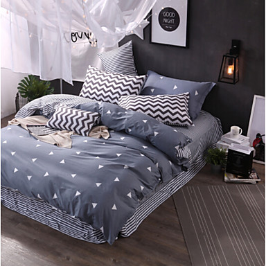 Neuartig 3 Stück Polyester / Baumwolle Polyester / Baumwolle 1 Stk. Bettdeckenbezug 1 Stk. Kissenbezug 1 Stk. Betttuch