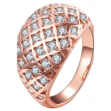 Women's Ring - Rose Gold Plated Fashion 7 / 8 Gold / Rose Gold For Party / Gift / Daily