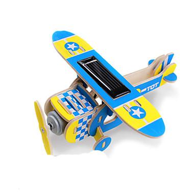 Napelemes játékok / 3D építőjátékok / Fejtörő Repülőgép Napelemes / DIY Fa Klasszikus Gyermek Ajándék