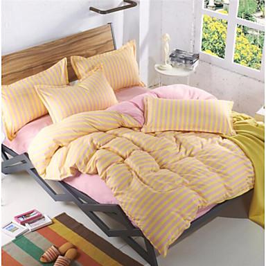 Geometrisch 4 Stück Baumwolle Druck Baumwolle 1 Stk. Bettdeckenbezug 2 Stk. Kissenbezüge 1 Stk. Betttuch