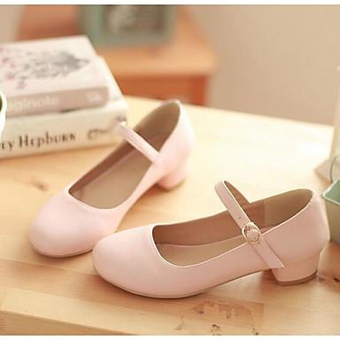Damen Schuhe PU Frühling Sommer Komfort High Heels Für Normal Blau Rosa Mandelfarben