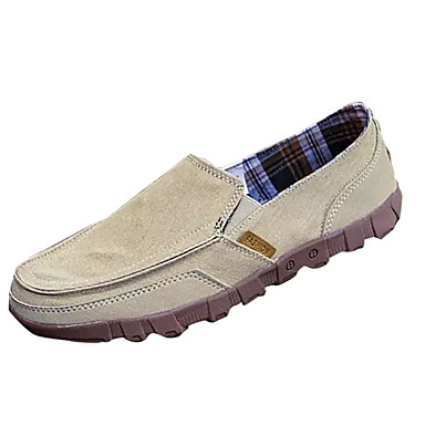 Herrn Schuhe PU Frühling / Herbst Komfort Loafers & Slip-Ons Grau / Marinenblau / Khaki