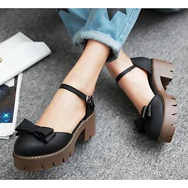 Damen Schuhe PU Sommer Komfort High Heels Für Normal Schwarz Grau Mandelfarben