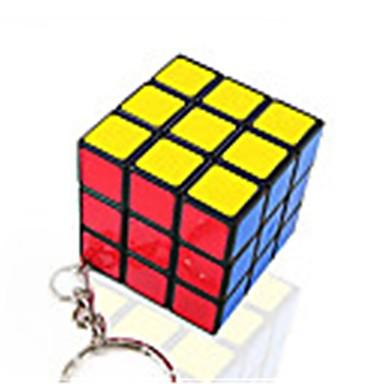 مكعب روبيك مصغرة السلس مكعب سرعة مكعبات سحرية مفتاح سلسلة لغز مكعب ملصقات مصقولة البلاستيك مربع هدية