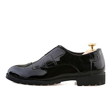 Férfi cipő Lakkbőr Ősz / Tél Formai cipő Esküvői cipők Fekete / Bor / Party és Estélyi / Ruha cipő
