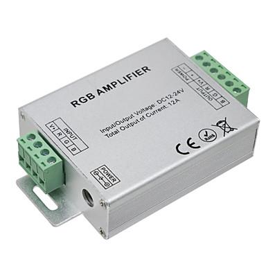 HKV® 1Pcs LED RGB Amplifier 12A LED Controller DC 12-24V For LED Strip Lights