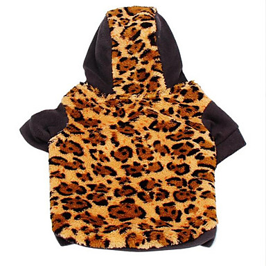 Dog Hoodie Dog Clothes Leopard Camouflage Color / Leopard Cotton Costume For Pets Men's / Women's Casual / Daily