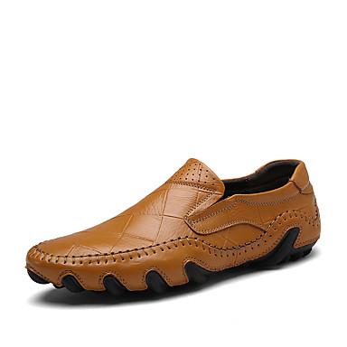 Férfi cipő Nappa Leather Tavasz Ősz Kényelmes Papucsok & Balerinacipők Tartán mert Hétköznapi Hivatal és karrier Party és Estélyi Fekete