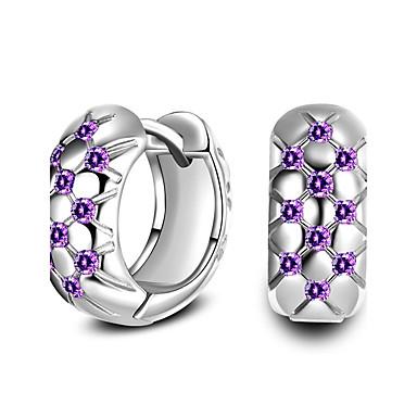 Damen Kreolen Imitation Diamant Liebe individualisiert Klassisch Diamantimitate Zirkon Aleación Kreisform Runde Form Schmuck FürHochzeit