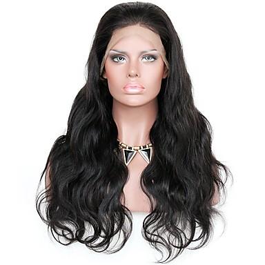 Remy haj Csipke eleje Paróka Hullámos Hullámos haj 150% 180% Sűrűség 100% kézi csomózású Afro-amerikai paróka Természetes hajszálvonal