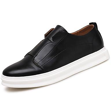 Férfi cipő PU Tavasz / Ősz Kényelmes Papucsok & Balerinacipők Fehér / Fekete