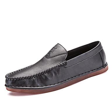 Férfi cipő PU Ősz / Tél Kényelmes / Búvárcipő Papucsok & Balerinacipők Gyalogló Fekete / Szürke / Barna
